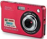 AbergBest Appareil Photo 21 Mega Pixels 2.7 LCD Rechargeable HD Digital Camera Caméra vidéo numérique pour Les étudiants, Les Enfants, Les Adultes (Rouge)
