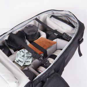 Sac de photographe comprenant des sachets anti humidité