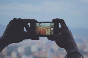Prise photo avec un smartphone
