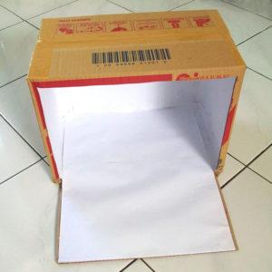 mini studio photo boite de carton